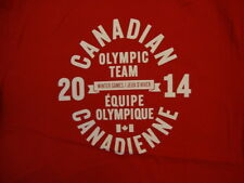 Canadian Canada Olympic Team 2014 Winter Games Red T Shirt M