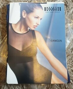 """New Wolford """"Cancun"""" Bodysuit Large Blue"""
