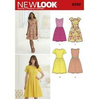New Look Sewing Pattern 6262 Misses Dress Neckline Variations Size 10-22 Uncut