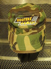 HOOTERS PRO CUP Series NASCAR ~ Camoflage Army Style Strap Back HAT Cap