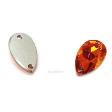 Genuine Swarovski 3230 Drop Pear Shape Crystal Sew on Stones *Pick Size & Colour