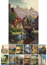 Wall Calendar 2017 [12 pages A4] France Europe # Vintage Travel Posters M415