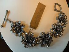 Lucky Brand Silver-Tone Flower Link Bracelet New Tags MSRP $39