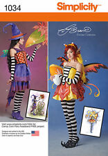 Simplicity 1034 Pattern Amy Brown Fairy Costume Cosplay Plus Size 6-14 Uncut