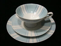 3tlg. Porcelain Collector's Place Setting Schierholz - Rockabilly - around 1950/