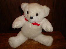 Vintage White Jointed Bear No Beans Stuffed Animal Plush Toy House of Lloyd