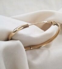 14k yellow gold high polished bangle bracelet 7""