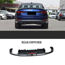 For Audi A4 Carbon Fiber Rear Bumper Diffuser Lip Quad Exhaust Karbel Style17-18
