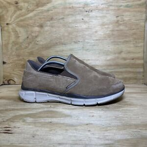 Skechers Equalizer Mind Game Suede Shoes (51502W), Men's Size 10 Wide, Brown