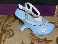 "Miniture Ceramic Shoe by Just the Right Shoe Club ""Glitter Glam"" 2002 Nwot New"