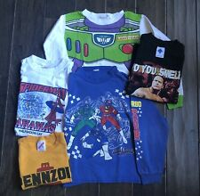 Vintage Youth T-shirt Lot WWE The Rock Power Ranger Disney Toy Story 80s 90s
