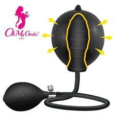 Plug Gonflable dilatation anal noir avec pompe
