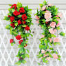 CW_ Artificial Fake Silk Rose Flower Ivy Vine Hanging Garland Home Decor Splendi