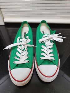 Groovy Green Men's Converse All Stars Low Cut  Sz 10 AU #116015 As new Authentic