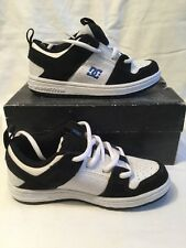 Genuine DC K'S LYNX HE Childrens Kids Black White Skate Shoes UK Size 13 BNIB