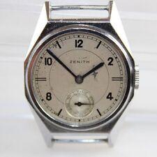 Vintage 1938 Zenith Calibre 10 1/2-2 Metal Chrome Wire Lug Case Watch LOT#0410
