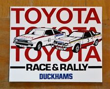 Team Toyota Race & Rally Duckhams Motorsport Sticker / Decal