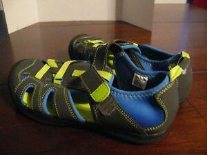 Boys Size 13-1 Faded Glory Dark Blue Flip Flops NWT