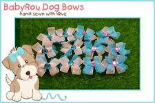 ~BabyRou~ 50 Dog Grooming Pet Ribbon Bows (Mermaid Stones)