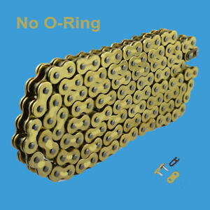 Chain 530 x 120 Gold Color without O-ring Fit:Harley-Davidson:Duo Glide ,Electra