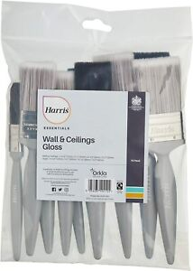 Harris Essentials Walls & Ceilings and Woodwork Gloss 10 Pack Paint Brush multi