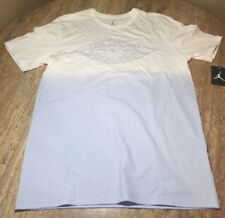 "Nike Air Jordan ""Fadeaway"" Faded T-Shirt White/UNC Blue AQ8031-100 - Size XL"