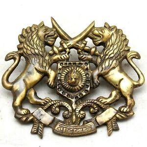 Rustic Cast Brass Antique Style ROYAL MARTYR Coat of Arm Monogram Plaque #25