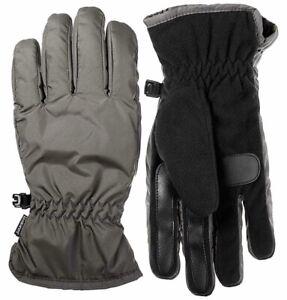 Men Winter Gloves Isotoner Everyday Grey Black USA Size XL Touchscreen $38