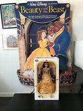 "DISNEY 17"" BELLE Limited Edition BEAUTY & THE BEAST Doll NIB Yellow dress 5000"