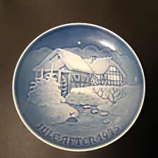 1975 Bing & Grondahl Christmas at The Old Watermill Danish Blue Plate # 9075