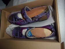 New Umi Big Girls Marvene II Casual Leather Mary Jane Shoes Purple Multi 32415A
