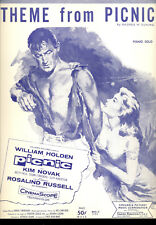 "PICNIC Sheet Music ""Theme From...."" William Holden Kim Novak"