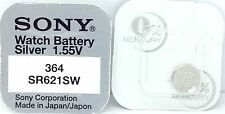 SONY 364 SR621SW V364 364 SR621SW WATCH BATTERY