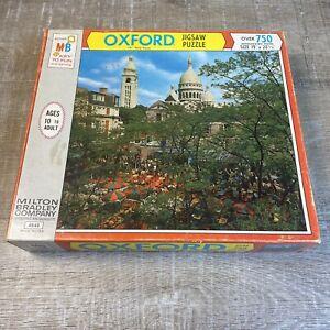 VTG NOS Sealed 1969 Milton Bradley Oxford 750 Piece Puzzle #4848 Paris France