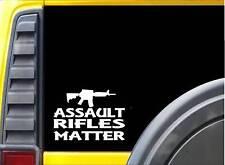 Assault Rifles Matter Sticker k145 6 inch rifle gun decal