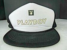5fb1f569 Vintage Playboy Snapback Mesh Trucker Hat Cap Hugh Hefner with Tags