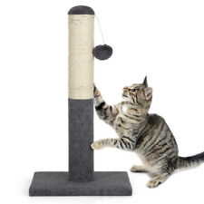 Cat Scratching Post Tree Kittens Play Toys Plush Sisal Scratcher Pole Tall 22""