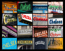 CHELSEA Name Poster featuring photos of actual signs