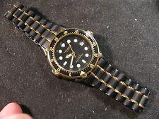Vintage 1990 HELBROS 5ATM Water Resistant Quartz Diver's Watch***New Battery***