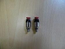 Red / Silver - Fork bleeder valves - HONDA CRF250, CRF450, CR125, CR250