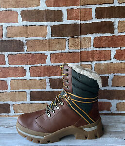 TIMBERLAND WOMEN'S JENNESS FALLS WP INSULATED BOOTS MD BROWN FULL GRAIN Sz 8