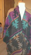 George cape/poncho..aztec design..**bnwt** one size..tassles ends...great item