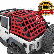 07-17 Jeep Wrangler JK Off Road 4 Door RED Cargo Restraint Net System 4x4 NEW!