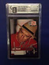 1991 Jack Roush Pro Set Racing Auto Autograph Card