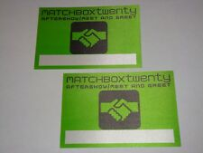 MATCHBOX TWENTY 2 BACKSTAGE TICKET PASS Rob Thomas More Than You Think Are 20