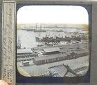 photo 1880 MARITIME SPAIN BARCELONA DOCK PORT HARBOR BOAT SHIP