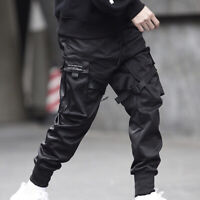 1x Men Slim Sweatpant Hip Hop Harem Cargo Tactical Overalls Pencil Pants Fashion