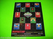Romstar REVENGE OF DOH Original 1987 NOS Video Arcade Game Flyer Aka Arkanoid II