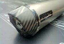 Kawasaki ZXR 400 J + K ZXR400 Titanium Round Carbon Outlet Race Exhaust Can SL