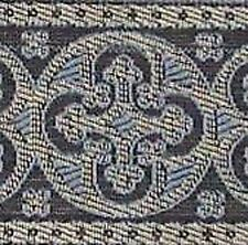 Jacquard, Vestment, Church Trim. Light Blue & Silver